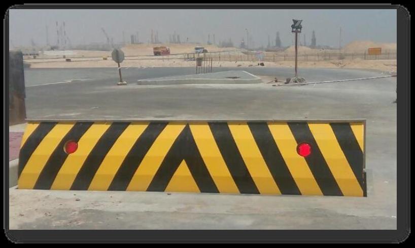 Installed road blocker